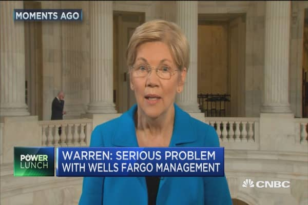 Sen. Warren: Serious problem with WFC management
