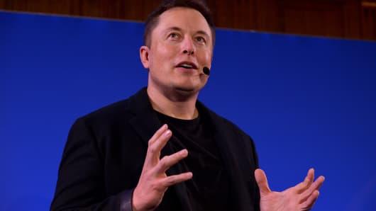 Elon Musk, CEO of US automotive and energy storage company Tesla