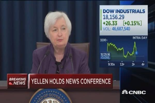 Yellen holds news conference