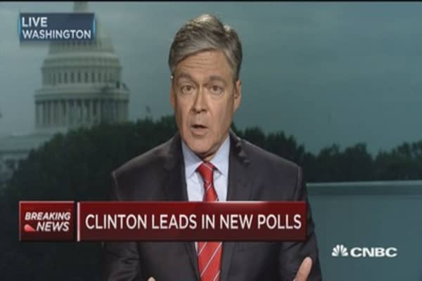 Clinton leads in new polls