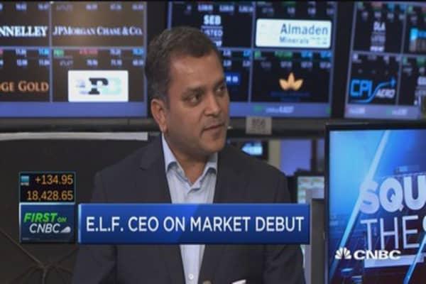 E.L.F. CEO on market debut