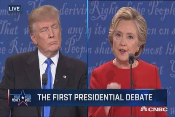 Clinton: 'Trumped up, trickle down' economics