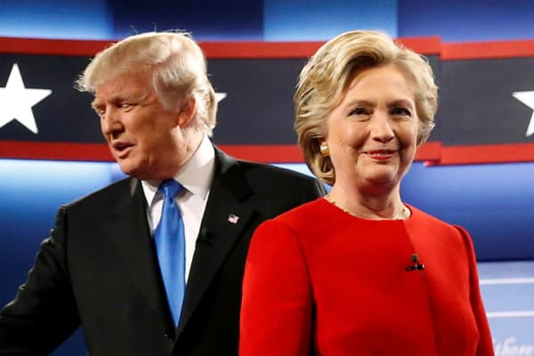 Image result for trump vs clinton 2nd debate