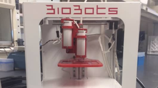 Philadelphia start-up BioBots has created a 3-D printing device that has the ability to print living cell tissue.