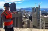 Salesforce EVP Elizabeth Pinkham at the Salesforce tower.