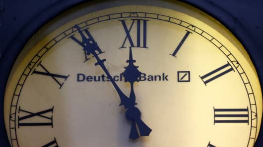 Deutsche bank clock ticking