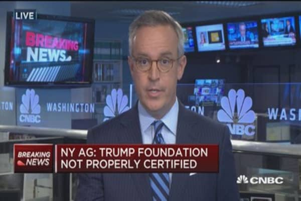 NY AG: Trump foundation not properly certified
