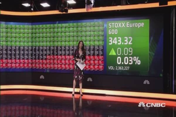 European stocks higher; Deutsche Bank in focus; Pound hits 31-year low ...