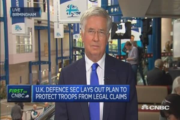 We're going to get out of the ECHR: UK Defence Secretary