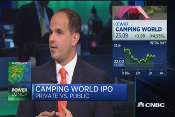 Marcus Lemonis takes Camping World public