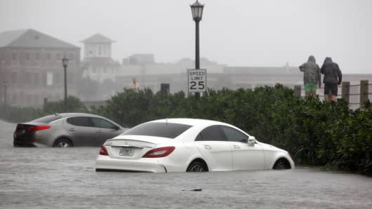 Charleston deals with severe flooding from Hurricane Matthew