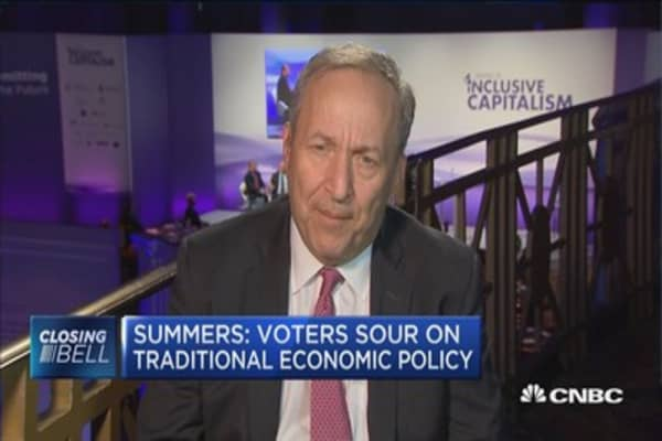 Summers: Voters sour on traditional economic policy