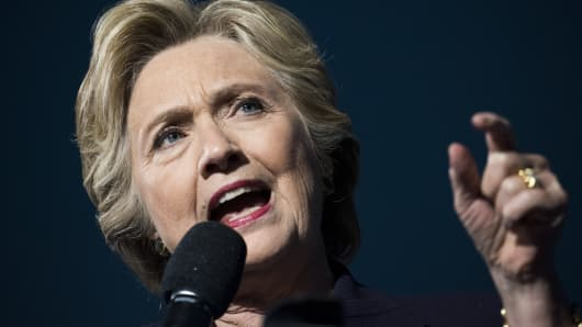 Hillary Clinton, 2016 Democratic presidential nominee, speaks during a campaign event in Columbus, Ohio.