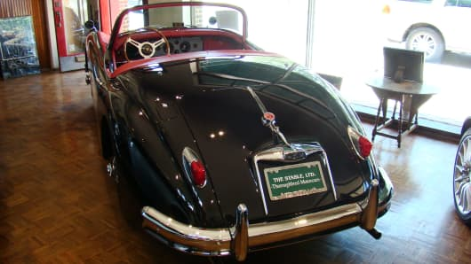 "1959 Jaguar XK-150S roadster (the ""S"" version is the rare and desirable high performance version) for $265,000."