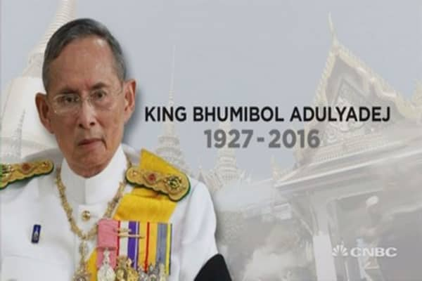 Thailand's King Bhumibol dies at 88