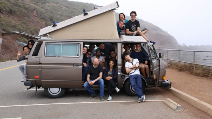 The employee count at design firm Daylight Design fit ideally will fit inside a bus, according to the founders' ideals.