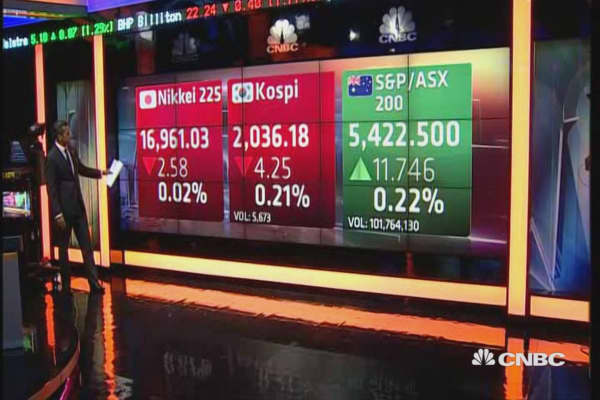Asian markets open mixed