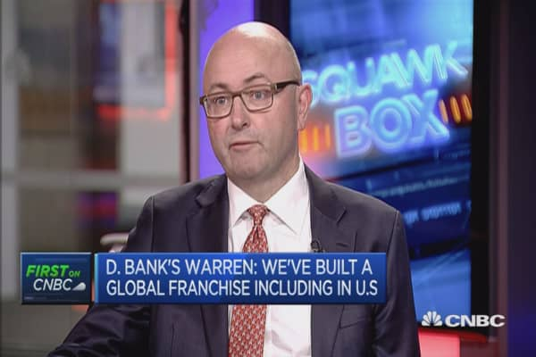 Incremental challenges of being an EU-headquartered bank: DB's Warren