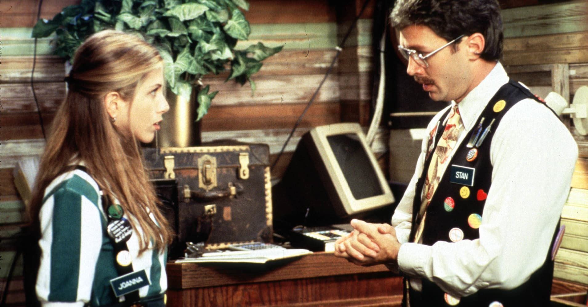 A scene of Twentieth Century Fox 'Office Space' with Jennifer Anniston