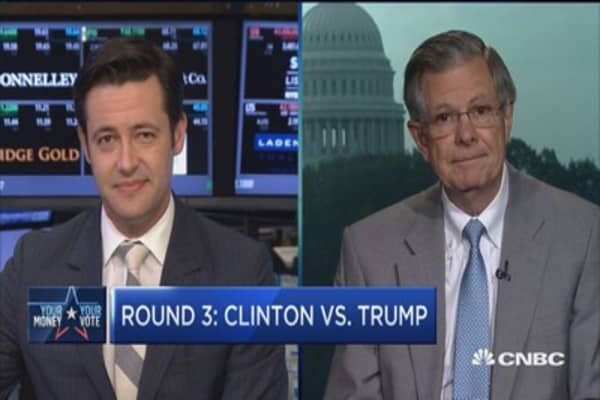 Round 3: Clinton vs. Trump