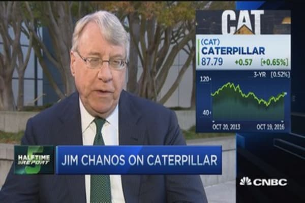 Chanos: Fundamentals haven't changed for CAT