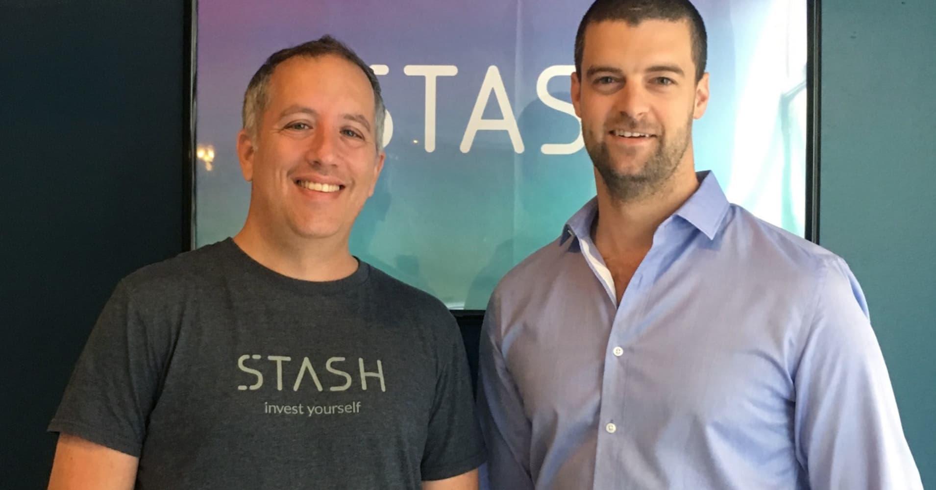 Stash co-founders, Brandon Krieg and Ed Robinson.