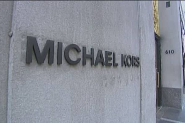 M&A chatter drives Michael Kors stock higher