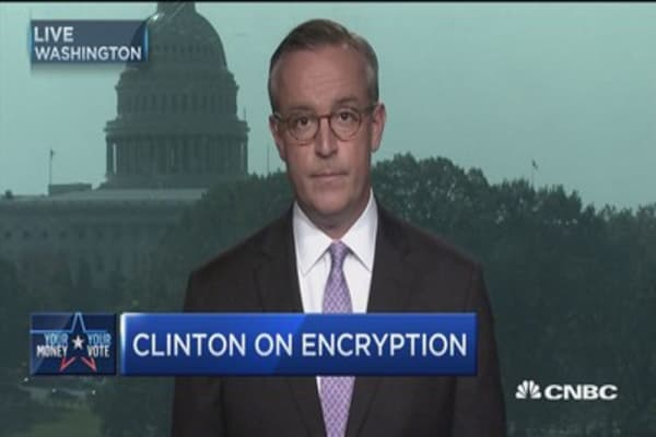 Clinton's encryption position