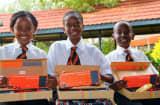 Students with Kano kits in Kenya.
