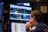 A trader works on the floor of the New York Stock Exchange (NYSE) in New York.