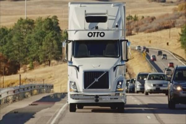 Bud makes shipment with self-driving truck