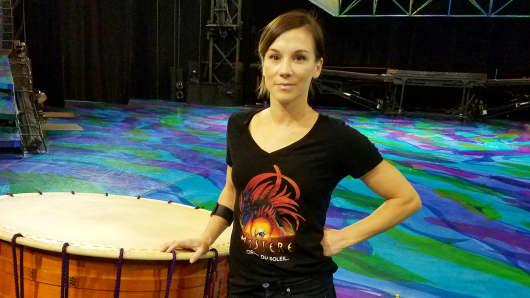 "Ashley Skivington, performer at Cirque du Soleil's ""Mystere."""