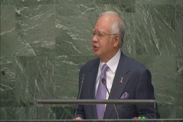 Malaysia's Najib Razak visits China