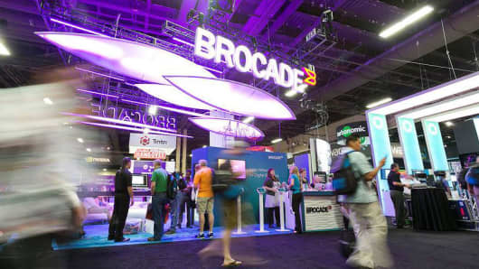 Brocade shares soar on report it's in talks to sell itself