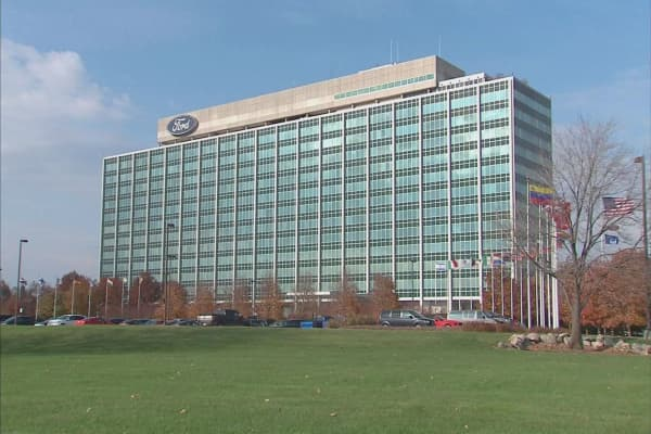 Fire At Ford World Headquarters Forces Evacuation