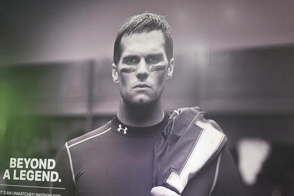 An Under Armour advertisement featuring Tom Brady.