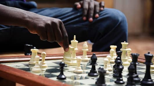 Chess player, being strategic