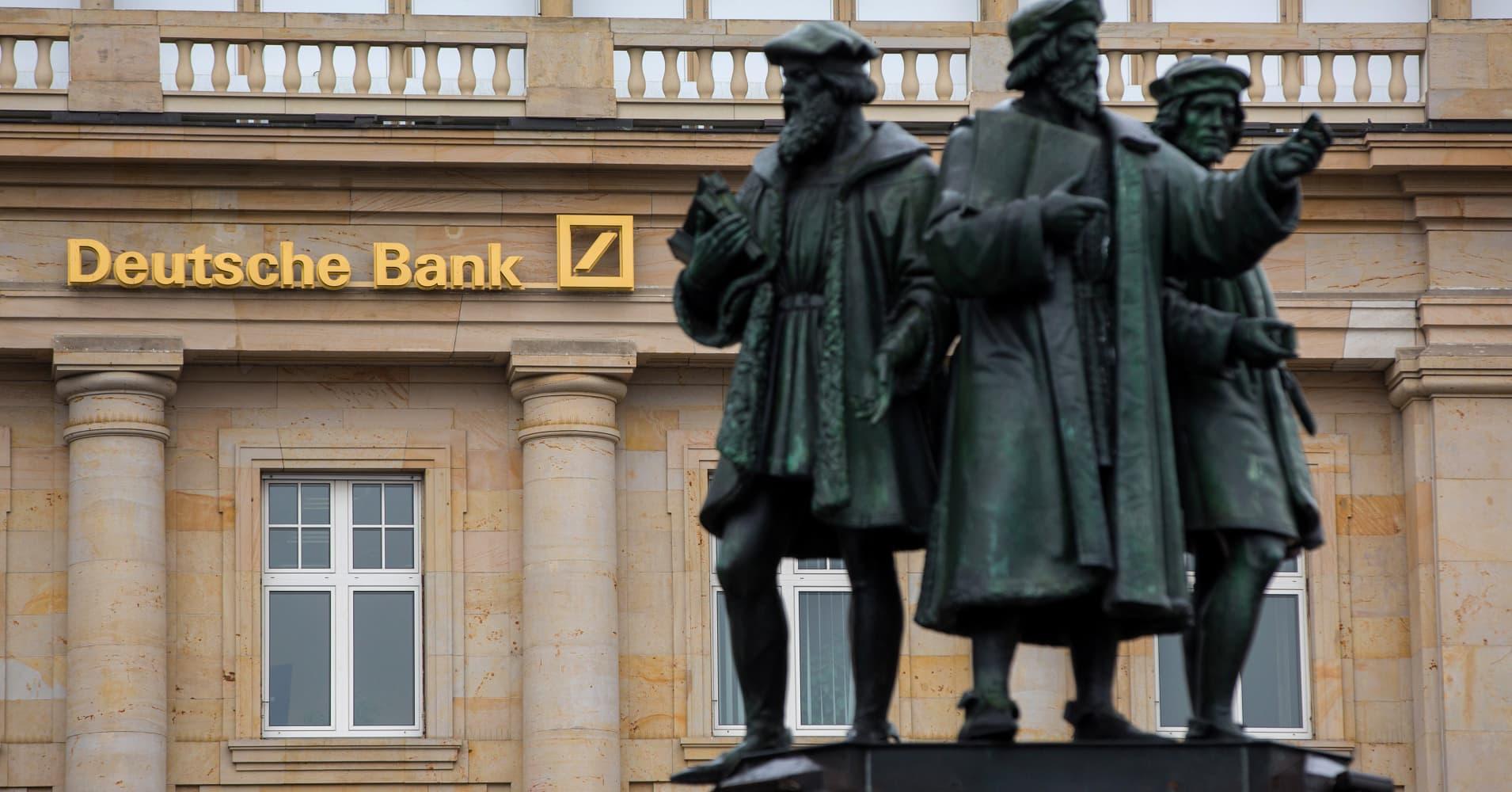Europe markets close lower; Deutsche Bank slides 7.9%