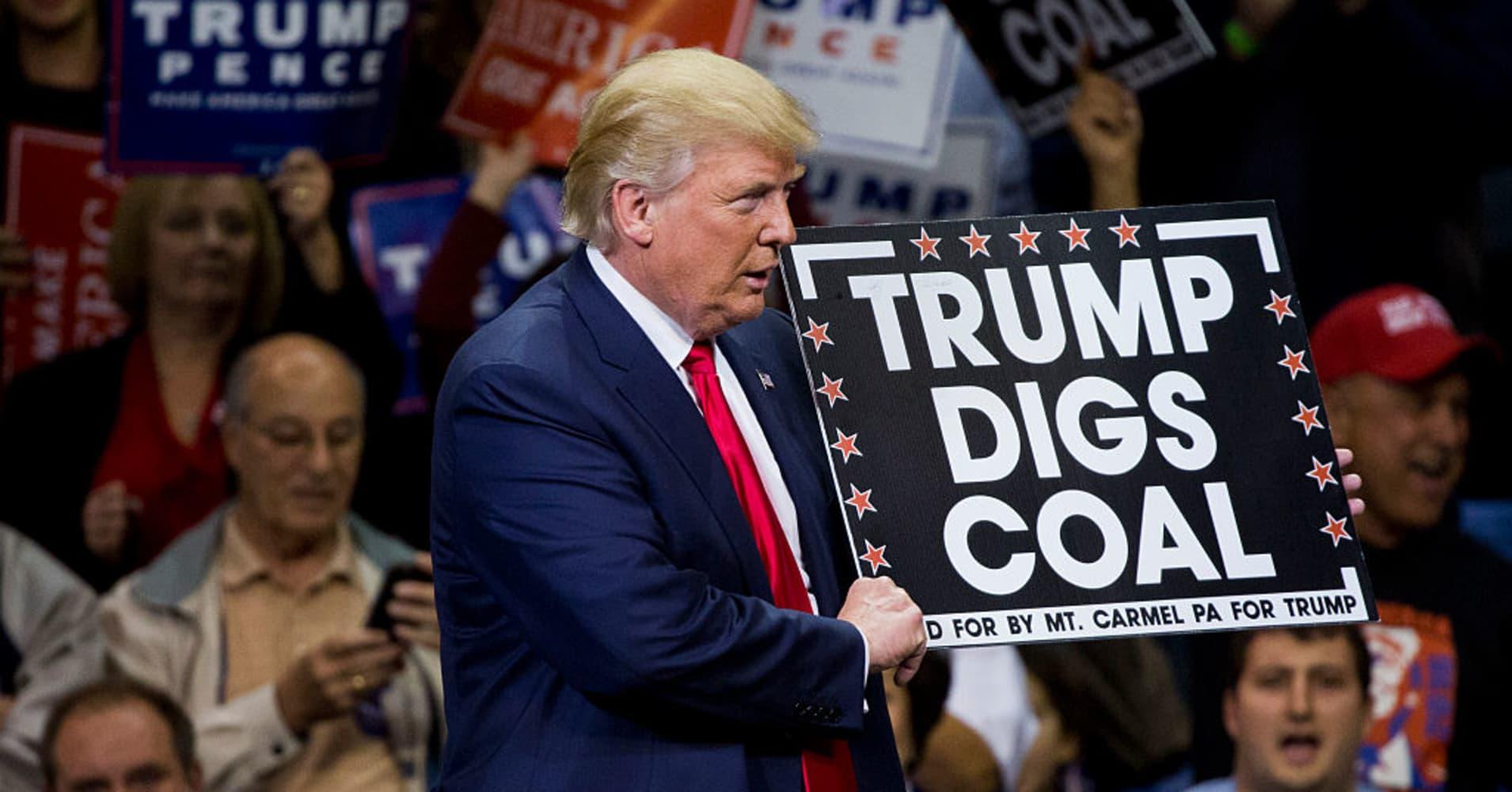 Image result for EPA trump pruitt coal