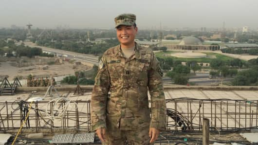 U.S. Army field artillery captain Jon Deng