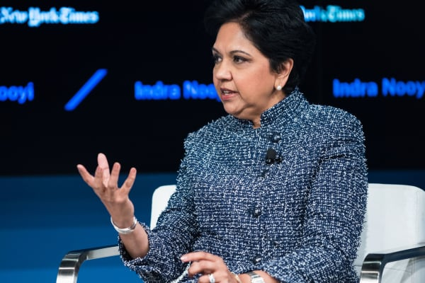 Indra Nooyi, CEO of PepsiCo, at the Dealbook conference in New York, November 10, 2016.