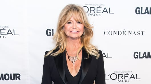 Goldie Hawn says a male and female running the country together would be 'fabulous'