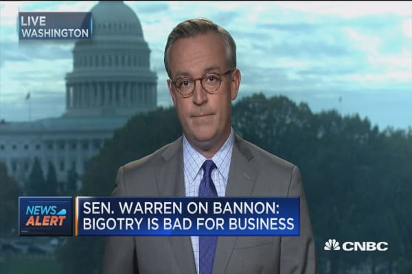 Sen. Warren on Bannon: Bigotry is bad for business