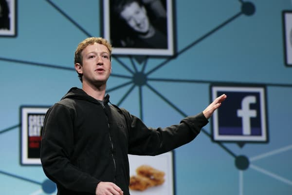 Facebook founder and CEO Mark Zuckerberg.
