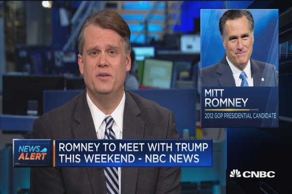 Romney & Trump to discuss Sec. of State position -NBC