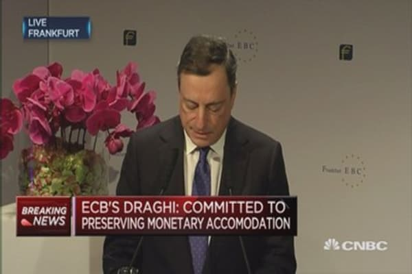 Euro economy is recovering at a moderate, steady pace: Draghi