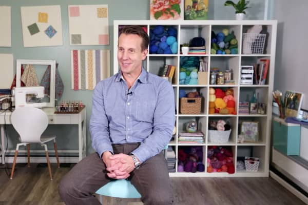 The CEO and co-founder of Craftsy, John Levisay, was inspired to start Craftsy after he received a quilt from his aunt.