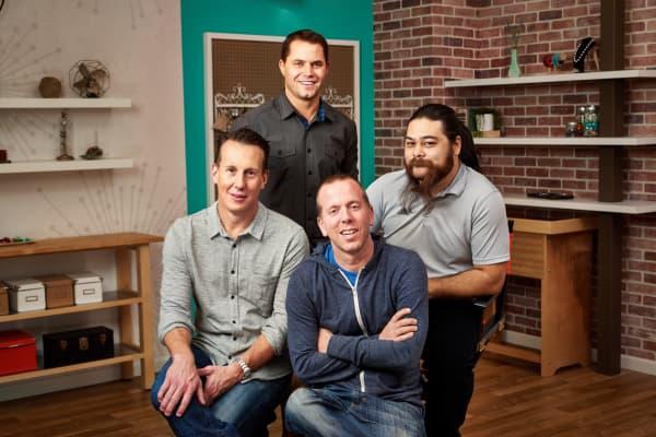 The four Craftsy founders: Todd Tobin- CTO, Bret Hanna- VP of Engineering, Josh Scott, and CEO John Levisay.