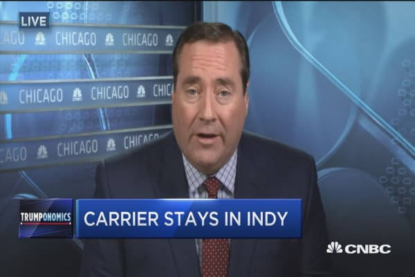 Carrier stays in Indiana