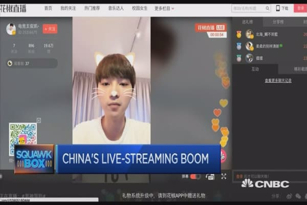 Live-streaming culture is taking off in China